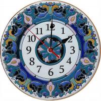 Рус-Арт Декоративные настенные керамические часы 30 см (Ч-3003)