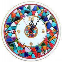 Рус-Арт Декоративные настенные керамические часы 30 см (Ч-3004)
