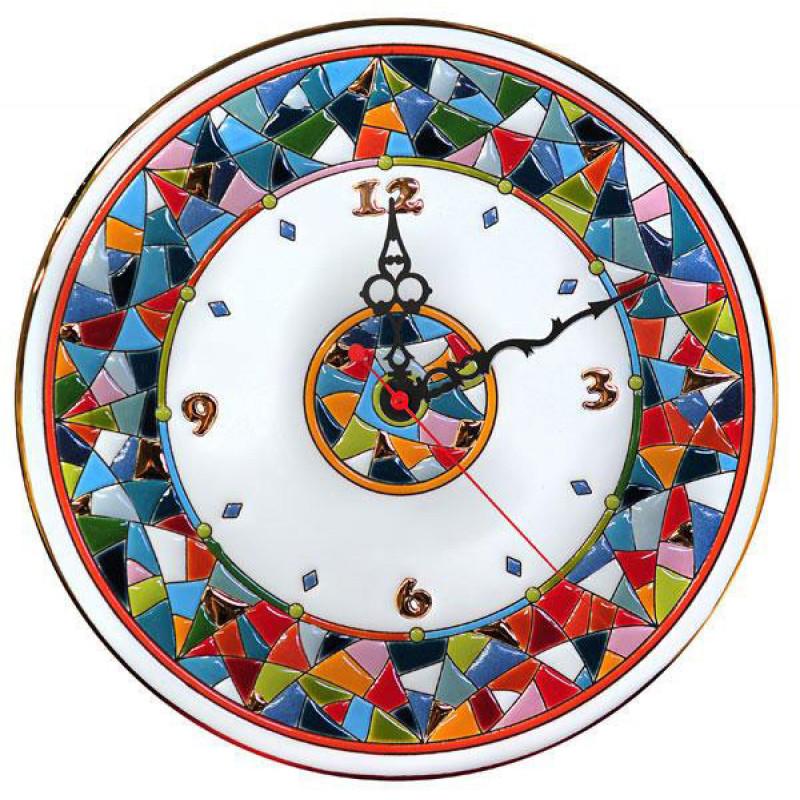 Рус-Арт Декоративные настенные керамические часы 30 см (Ч-3007)