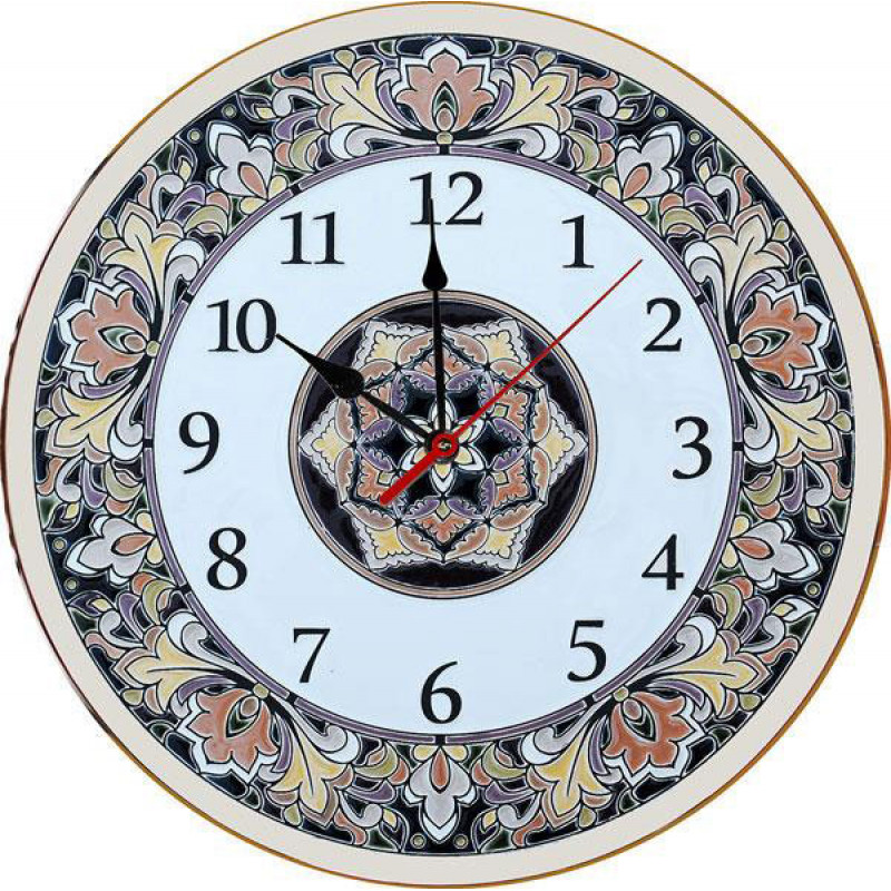 Рус-Арт Декоративные настенные керамические часы 40 см (Ч-4006)