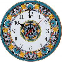 Рус-Арт Декоративные настенные керамические часы 40 см (Ч-4007)
