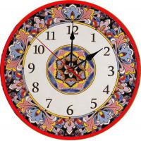 Рус-Арт Декоративные настенные керамические часы 40 см (Ч-4009)