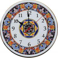 Рус-Арт Декоративные настенные керамические часы 40 см (Ч-4010)