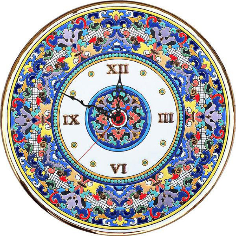 Рус-Арт Декоративные настенные керамические часы 40 см (Ч-4012)