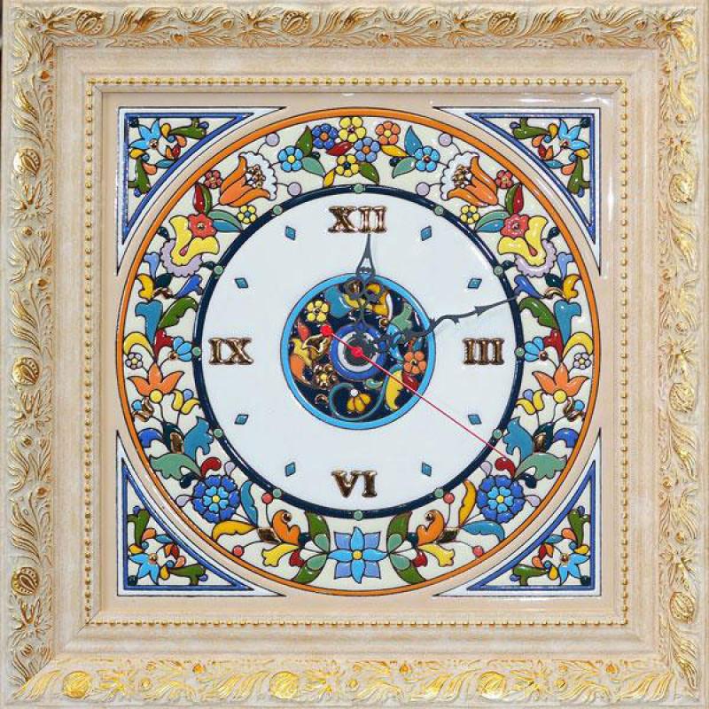 Рус-Арт Декоративные настенные часы квадратные 42*42 см (Ч-5002)