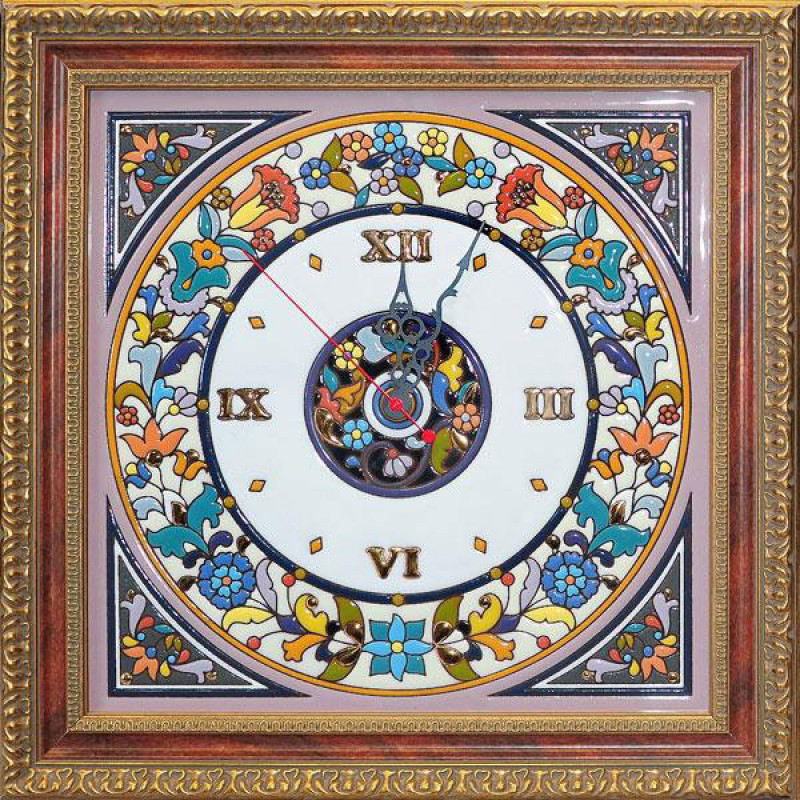 Рус-Арт Декоративные настенные часы квадратные 40*40 см (Ч-5003)