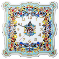 Рус-Арт Большие настенные часы квадратные 40*40 см (Ч-8004)