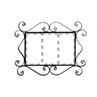 Рус-Арт Металлическая рамка для адреса на 3 элемента