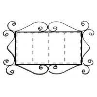 Рус-Арт Металлическая рамка для адреса на 4 элемента