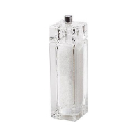 Bisetti мельница для соли 15 см прозрачная акрил (826S)