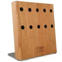 Chef Подставка с магнитными держателями 5-ти ножей (натуральный ясень) Chef (CH-003/NAT)