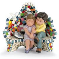 Creationes Nadal Статуэтка Влюбленные на скамейке (784010)