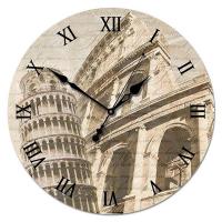 Династия Настенные часы из стекла Старинная Италия (01-004)