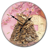 Династия Настенные часы из стекла Богатство (01-008)
