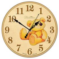 Династия Настенные часы из стекла Медвеженок (01-009)
