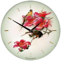 Династия Настенные часы из стекла Птички  (01-012)