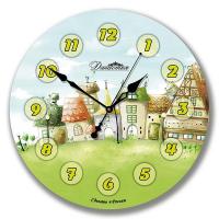 Династия Настенные часы из стекла Городок (01-041)