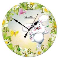 Династия Настенные часы из стекла Зайка (01-042)