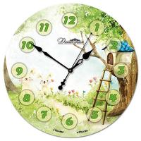 Династия Настенные часы из стекла Лесная поляна (01-043)