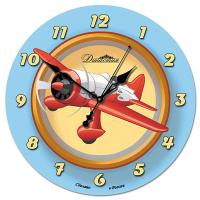 Династия Настенные часы из стекла Самолет (01-045)