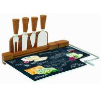 Easy Life (R2S) Набор для сыра: разделочная доска (стекло) + 4 ножа