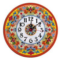 Рус-Арт Декоративные настенные керамические часы 30 см (Ч-3016)
