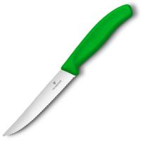 Victorinox Нож для стейка с волнистым лезвием зеленый 12 см. (6.7936.12L4)