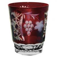 Ajka Crystal Хрустальный стакан для воды 0.39 л бордовый Grape (1/darkruby/64580/51380/48359)