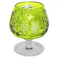 Ajka Crystal Хрустальный фужер для коньяка 0.3 л светло-зеленый Grape (1/reseda/64574/51380/48359)