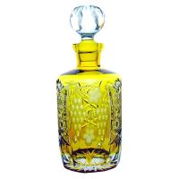 Ajka Crystal Хрустальный штоф для виски 0.7 л янтарный Grape (amber/64567/51380/48359)