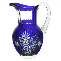 Ajka Crystal Хрустальный кувшин 1.2 л синий Grape (cobaltblue/64571/51380/48359)