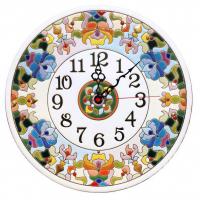 Рус-Арт Декоративные настенные керамические часы 30 см (Ч-3012)