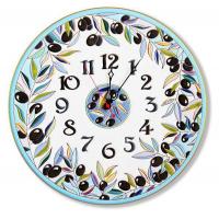 Рус-Арт Декоративные настенные керамические часы 40 см (Ч-4024)