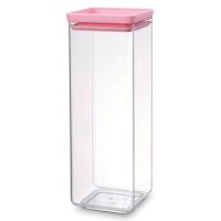 Brabantia Контейнер 2.5 л прозрачный/розовый Tasty Colours (290107)
