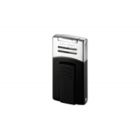 Colibri of London Зажигалка Syndicate Anodized Black / Satin Silver (CB QTR-412001E)