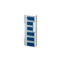 Colibri of London Зажигалка Primo Satin Silver / Blue Accent (CB QTR-600004E)