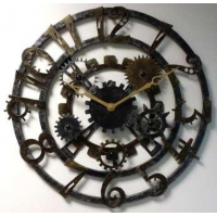 Династия Большие настенные часы металлические Скелетон-2 (07-006)
