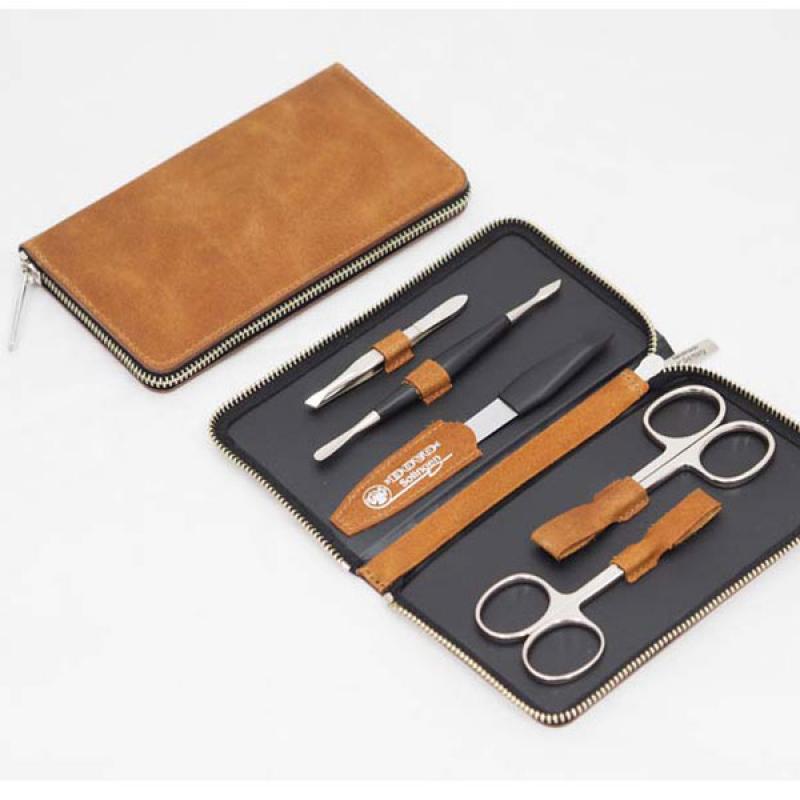 DOVO Solingen Набор маникюрный  5 предметов коричневый (606066)