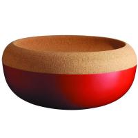Emile Henry Керамическая чаша для фруктов с крышкой из натуральной пробки 35 см (348765)