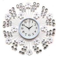 Galaxy Настенные кварцевые белые часы металлические (AYP-1050 В)