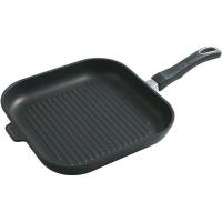 Gastrolux Сковорода-гриль с антипригарным покрытием для индукционных плит, съемная ручка, 28 см,  Cookware Induction, (A17-428)