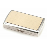GC3-0003 Givenchy портсигар / 1952 ivory leather dia-silver