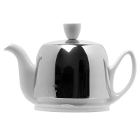 GUY DEGRENNE Чайник заварочный с ситечком на 2 чашки нерж. сталь, фарфор White (211987)