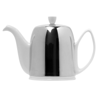 GUY DEGRENNE Чайник заварочный с ситечком на 6 чашек нерж. сталь, фарфор White (211989)