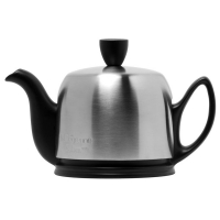 GUY DEGRENNE Чайник заварочный с ситечком на 2 чашки нерж. сталь, фарфор Mat Black (211991)