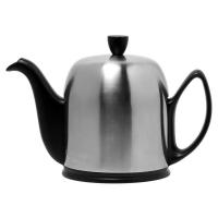 GUY DEGRENNE Чайник заварочный с ситечком на 6 чашек нерж. сталь, фарфор Mat Black (211993)
