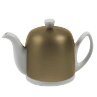 GUY DEGRENNE Чайник заварочный на 6 чашек с крышкой бронзового цвета 900 мл фарфор White (216415)