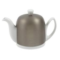 GUY DEGRENNE Чайник заварочный на 6 чашек с крышкой цинкового цвета 900 мл фарфор White (216416)