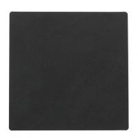 LIND DNA Подставка под стакан из натуральной кожи 10*10 см NUPO квадратная цвет черный (981801)