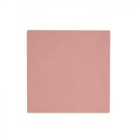 LIND DNA Подставка под стакан из натуральной кожи 10*10 см NUPO квадратная цвет пыльно-розовый (9895)